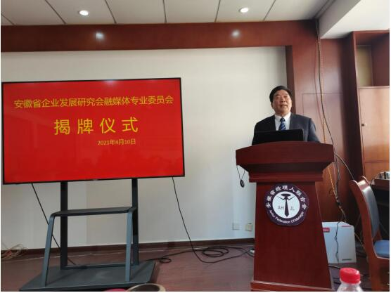 安徽省企业发展研究会融媒体专业委员会揭牌